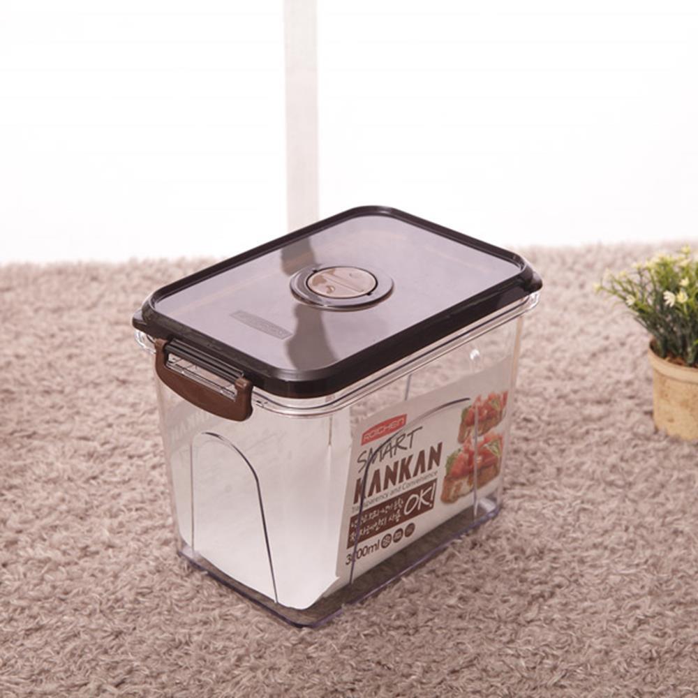 투명용기 칸칸 스마트 3000ml 보관함 주방용기 양념통 보관용품 밀폐보관용기 보관통 생활용품 주방용품