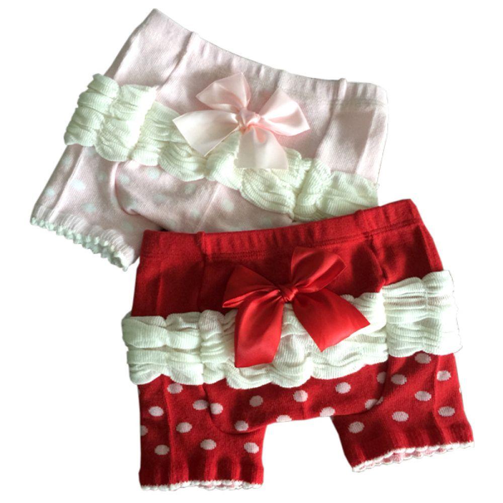 셔링 도트 리본 속바지 겸용 스패츠(0-4세) 203005 아기옷 유아옷 아기바지 유아바지 기모바지 반바지 스패츠 아기쫄쫄이바지 엠케이 쫄쫄이 레깅스 겨울바지