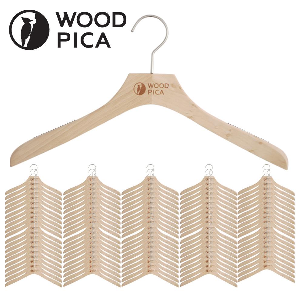 우드피카 프리미엄 원목 옷걸이 100개입 옷걸이 원목옷걸이 우드옷걸이 나무옷걸이 고급옷걸이