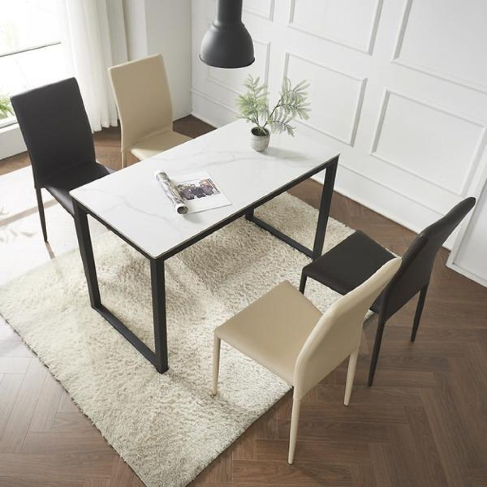 심플라인 플러스 세라믹 철제 식탁 세트 1200 테이블 다용도상 거실테이블 티이블 미니테이블
