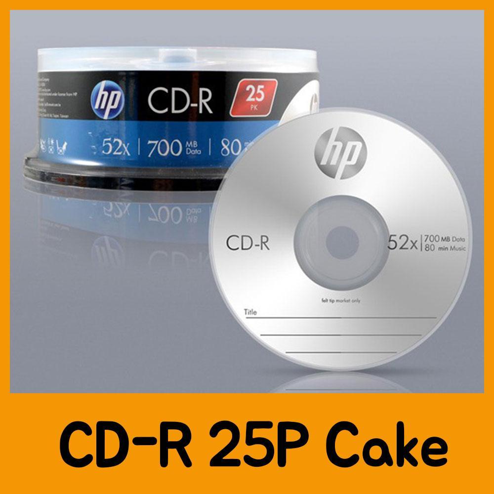 HP CD-R 25P Cake CD 공CD 씨디 공씨디 저장용품 컴퓨터저장용품 저장