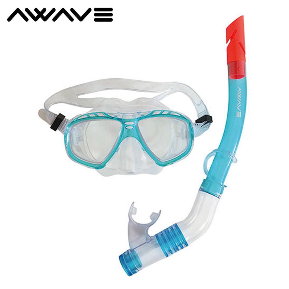 어웨이브 모션 스노클 세트 아동 물안경 아동수경 아동 물안경 수경 어린이 아동수경