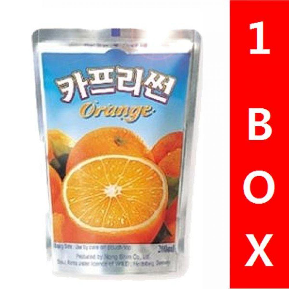 농심)카프리썬(오렌지망고) 1박스(10개) 음료 여름 탄산 과일 비타민 대량 세일 판매 카프리썬 오렌지망고