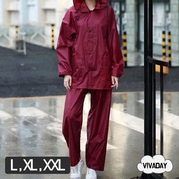 W17 상하세트 여성우의 우비 레인코트 우의 비 비옷 여름철 장마 장마비옷 여성우의 남성우의