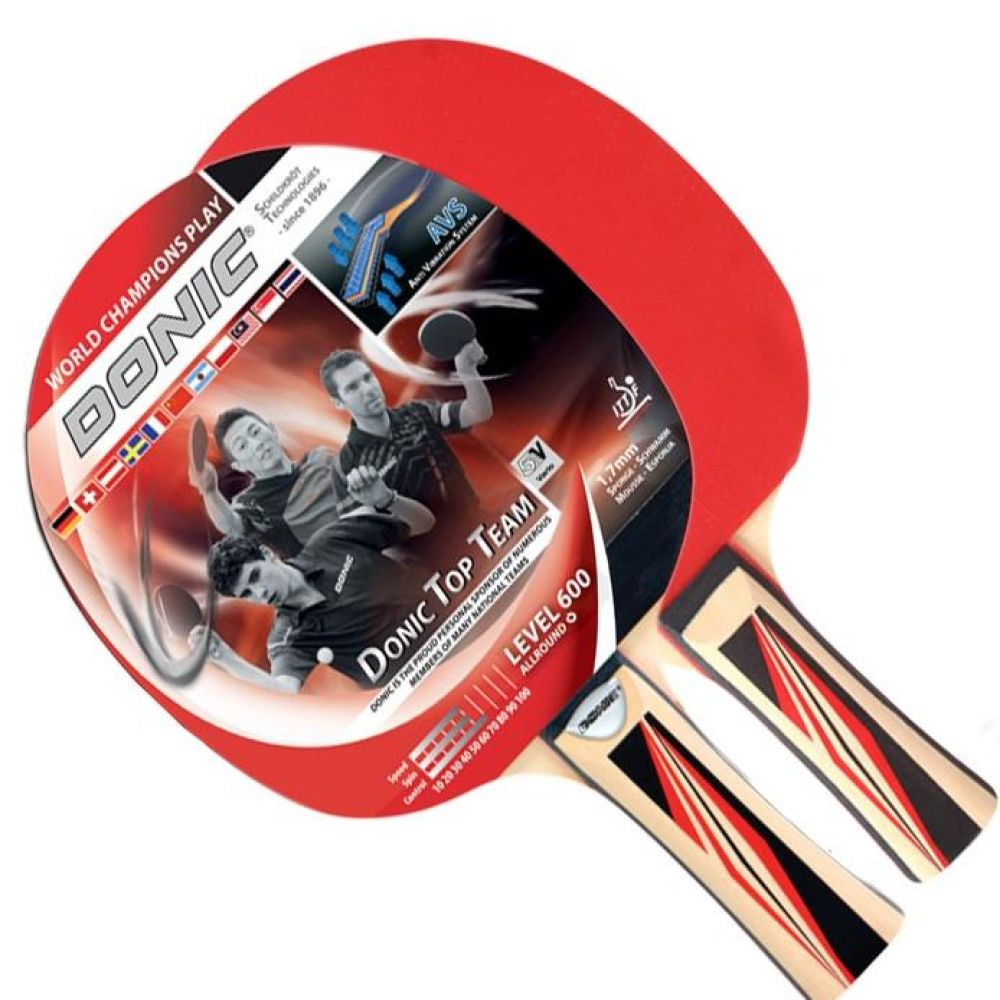 올라운드형 도닉 탑팀 600 쉐이크 탁구라켓 1P 스포츠용품 탁구용품 탁구라켓 쉐이크탁구라켓 탁구 연습용탁구라켓 시합용탁구라켓 쉐이크그립라켓