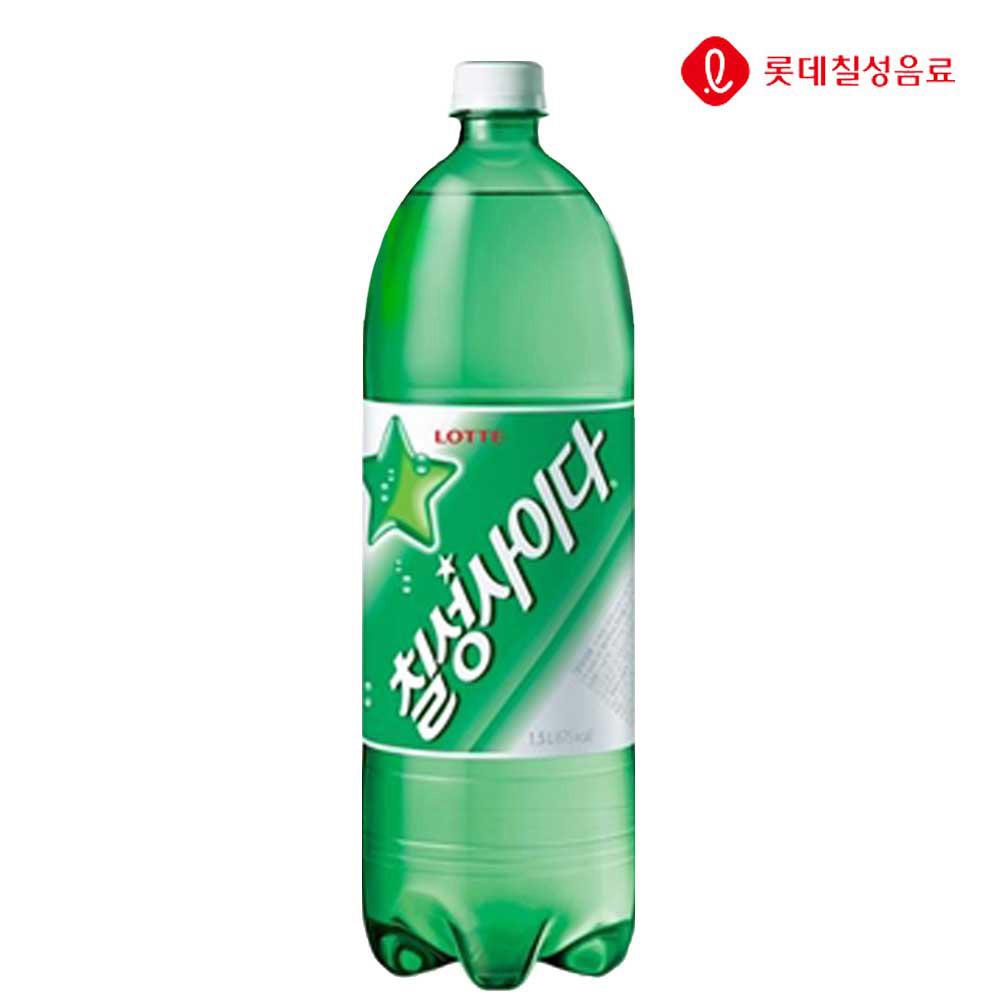탄산음료 칠성사이다 1.5L X 12개 (일반용) 탄산음료 사이다 칠성사이다 업소용사이다 음료수