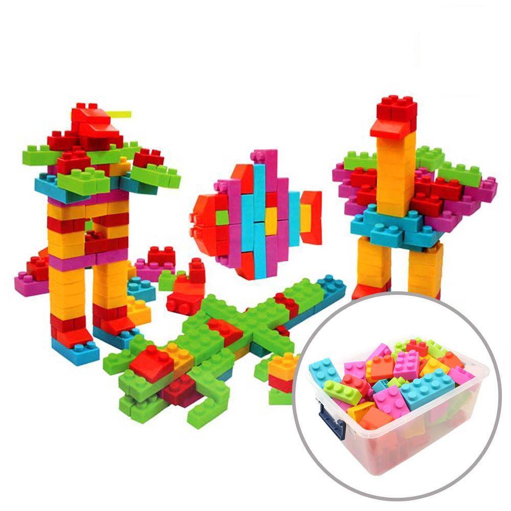 보관함포함 아이 소프트 스마트 마일드블록 200피스 퍼즐 블록 블럭 장난감 유아블럭