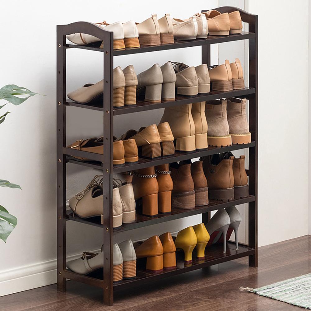 슈먼트 대나무 신발장 5단 신발정리대 신발장 신발정리대 신발정리함 신발수납장