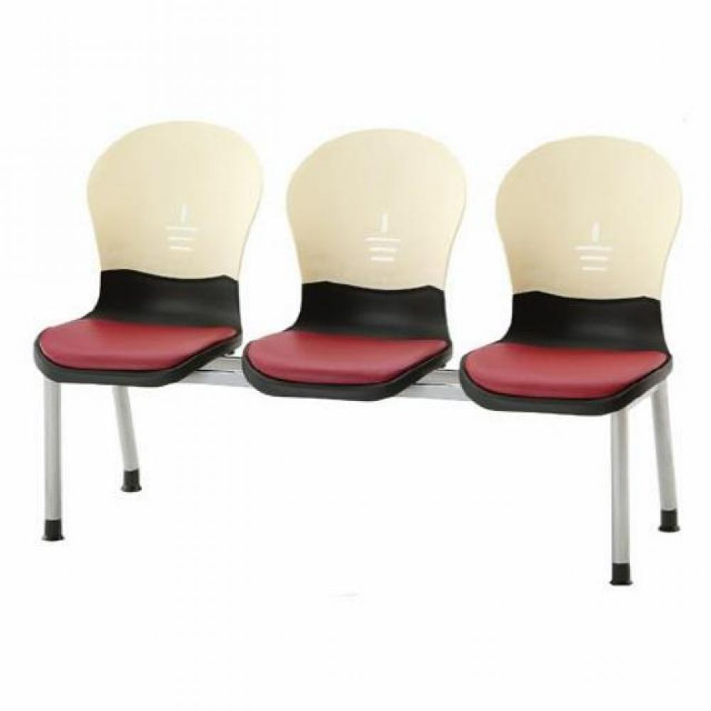 3인용 연결의자 테트라(사출-인조가죽) 598 로비의자 휴게실의자 대기실의자 장의자 3인용의자 2인용의자 약국의자 대합실의자