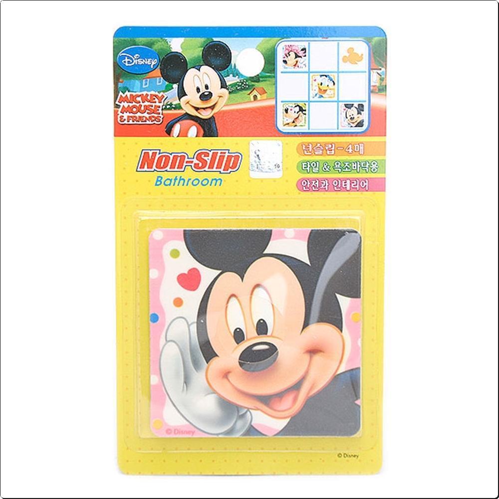미키마우스 논슬립4P 8cm - 타일 미끄럼방지 (소) 캐릭터 캐릭터상품 생활잡화 잡화 유아용품