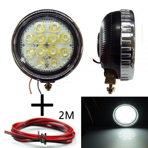 LED 안개등 원형 303 화이트 다용도 램프 작업등 12V-24V겸용 선2m포함 led작업등 led라이트 낚시집어등 차량용써치라이트 해루질써치