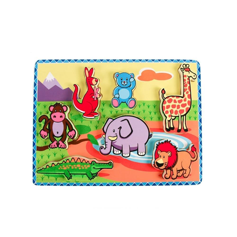 장난감 유아 어린이 놀이 블럭 퍼즐 야생동물 아이 퍼즐 블록 블럭 장난감 유아블럭