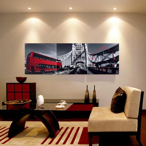 JHC컴퍼니 레드포인트 런던 병풍 벽시계(120cm 40cm) 벽시계 탁상시계 시계 클래식시계 엔틱벽시계