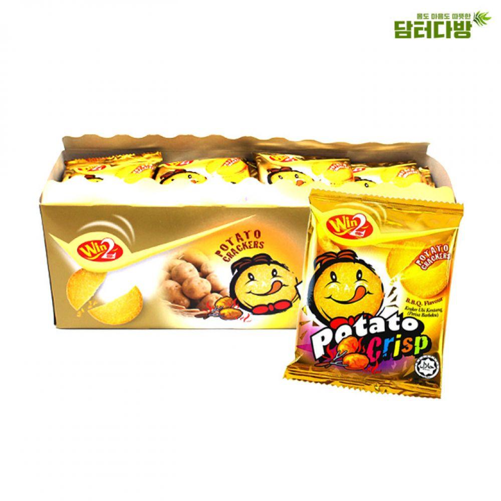 포테이토 크리스프 바베큐맛 900g (15g x 60) 포테이토크리스프 바베큐맛 크리스프바베큐맛 감자맛과자 포테이토스낵 감자과자