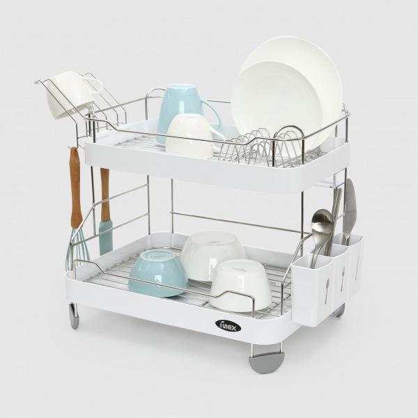 하모니 2단 식기건조대-대 주방선반 식기선반 식기건조대 씽크대선반 식기건조