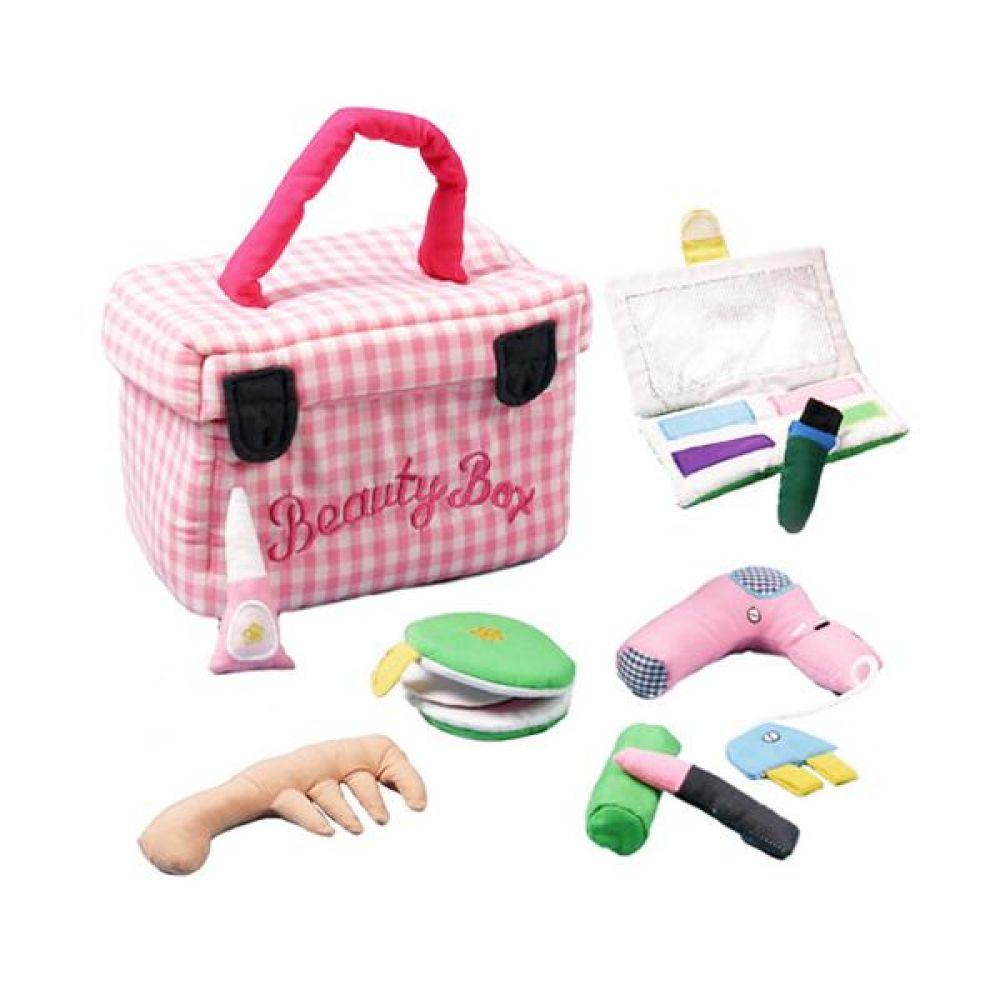 역할놀이 미용세트와 핑크가방 완구 문구 장난감 어린이 캐릭터 학습 교구 교보재 인형 선물