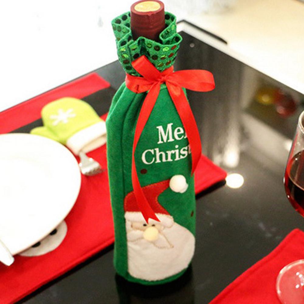 크리스마스 산타 와인커버 술병커버 크리스마스소품 와인커버 플레이팅소품 술병커버 와인병커버 크리스마스트리