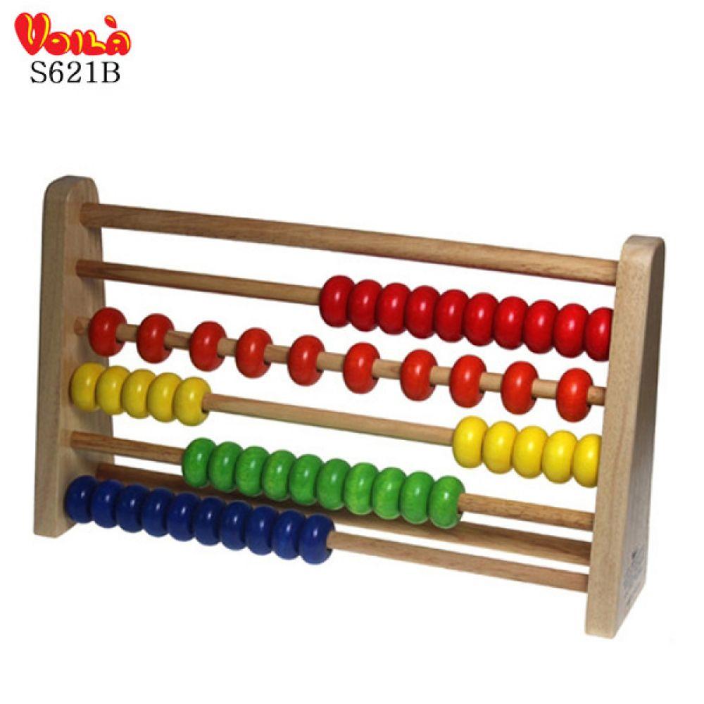 오십알주판 S621B 숫자학습 숫자놀이 학습교구 수세기 숫자놀이 수세기 학습교구 원목수세기 숫자학습
