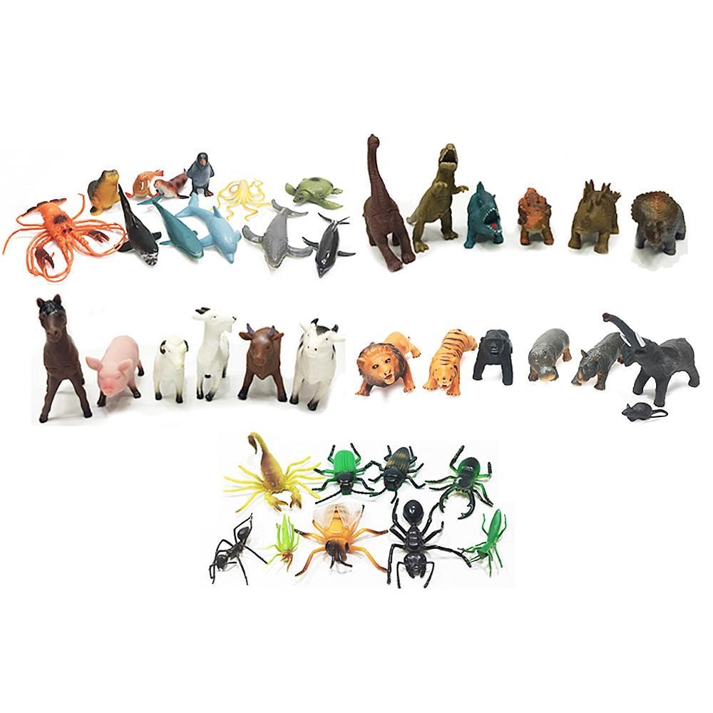 완구 유아 아이 놀이 장난감 안전동물 40종 세트 유아원 장난감 2살장난감 3살장난감 4살장난감