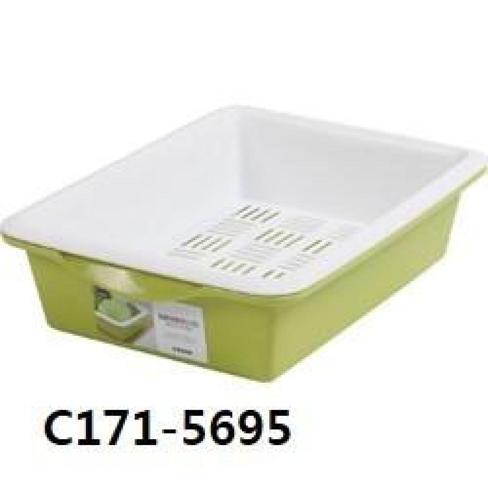 창신 센스큰채반그린 C171-5695 주방용품 주방 생활용품 채반 큰채반