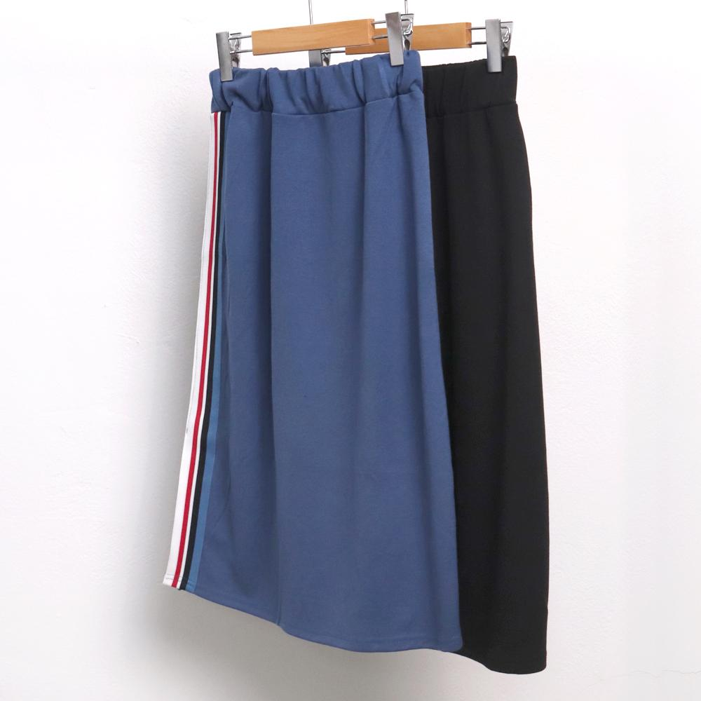미시옷 6840L910 배색 테이핑 스커트 IN 빅사이즈 여성의류 빅사이즈 여성의류 미시옷 임부복 특양면테잎스커트
