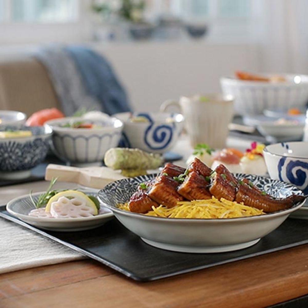 아이조메 대접 5P 식기 국그릇 주방용품 예쁜그릇 국그릇 식기 대접 주방용품 예쁜그릇