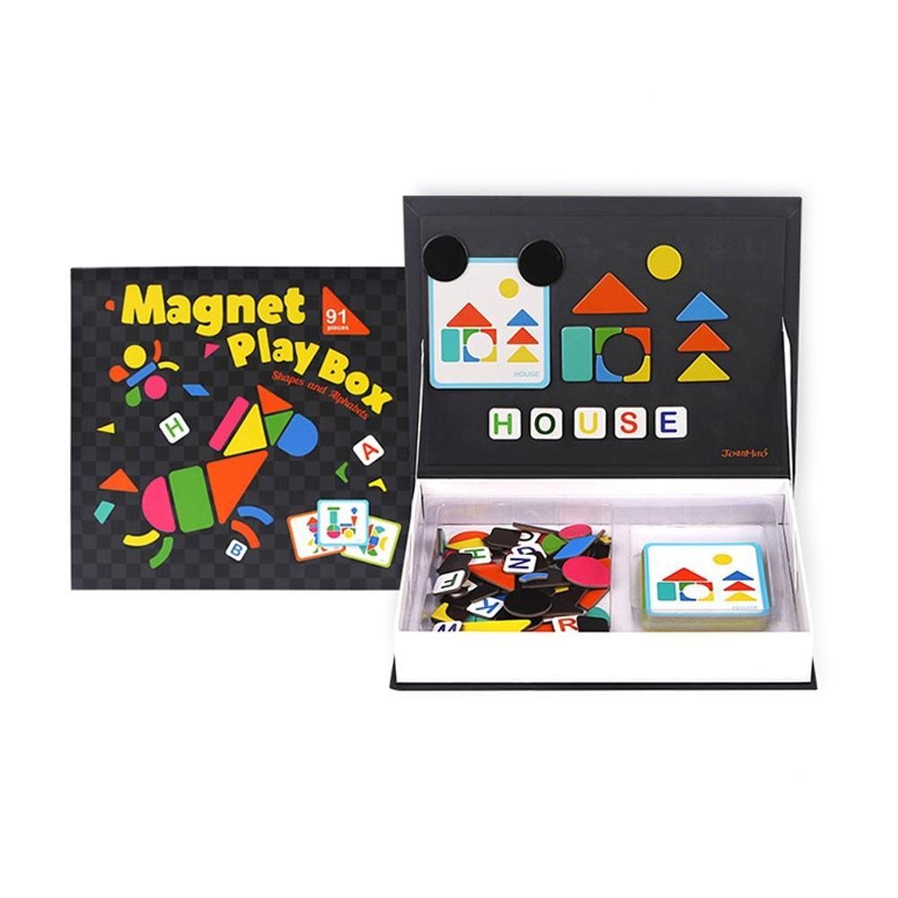 장난감 유아 학습 자석 퍼즐 박스 모양 알파벳 놀이 퍼즐 블록 블럭 장난감 유아블럭