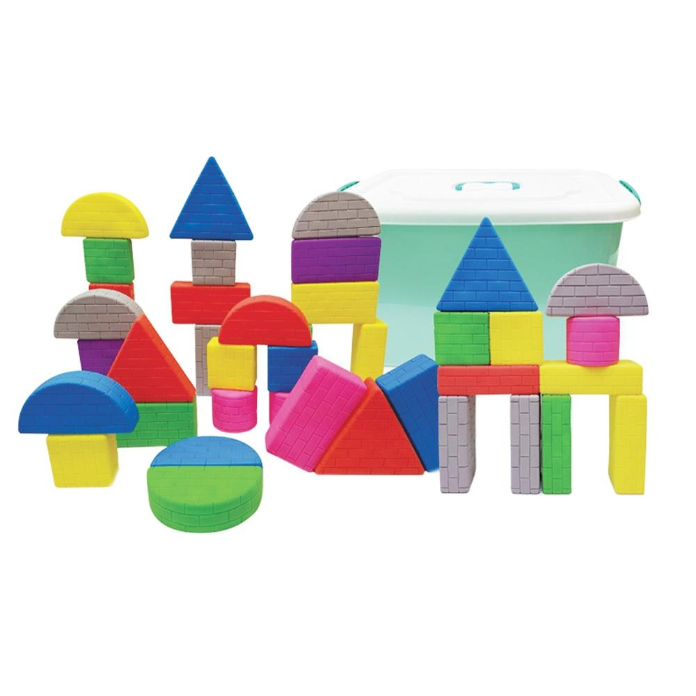 선물 유아 장난감 안전 벽돌 블록 세트 42p 조카 생일 퍼즐 블록 블럭 장난감 유아블럭