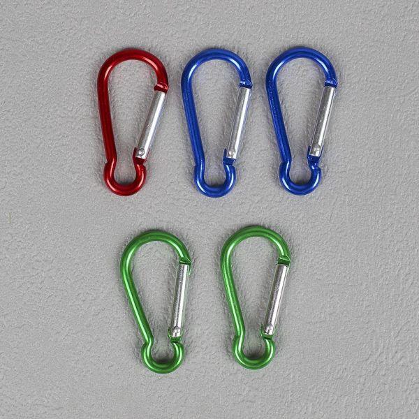 카라비너 5p세트 4.5cm 소형 카라비나 열쇠고리 키링 카리비너 등산고리 등산용고리 열쇠고리 키링