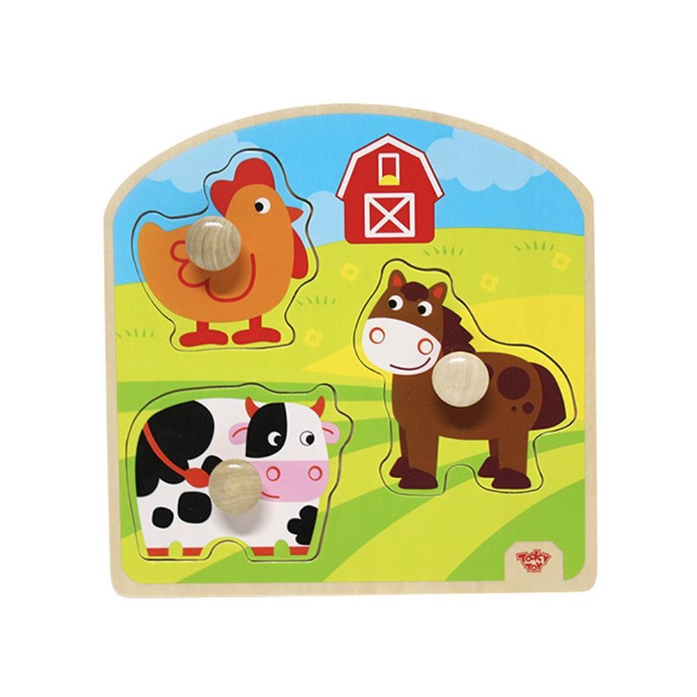 장난감 유아 학습 아동 놀이 농장 큰꼭지 퍼즐 아이 퍼즐 블록 블럭 장난감 유아블럭