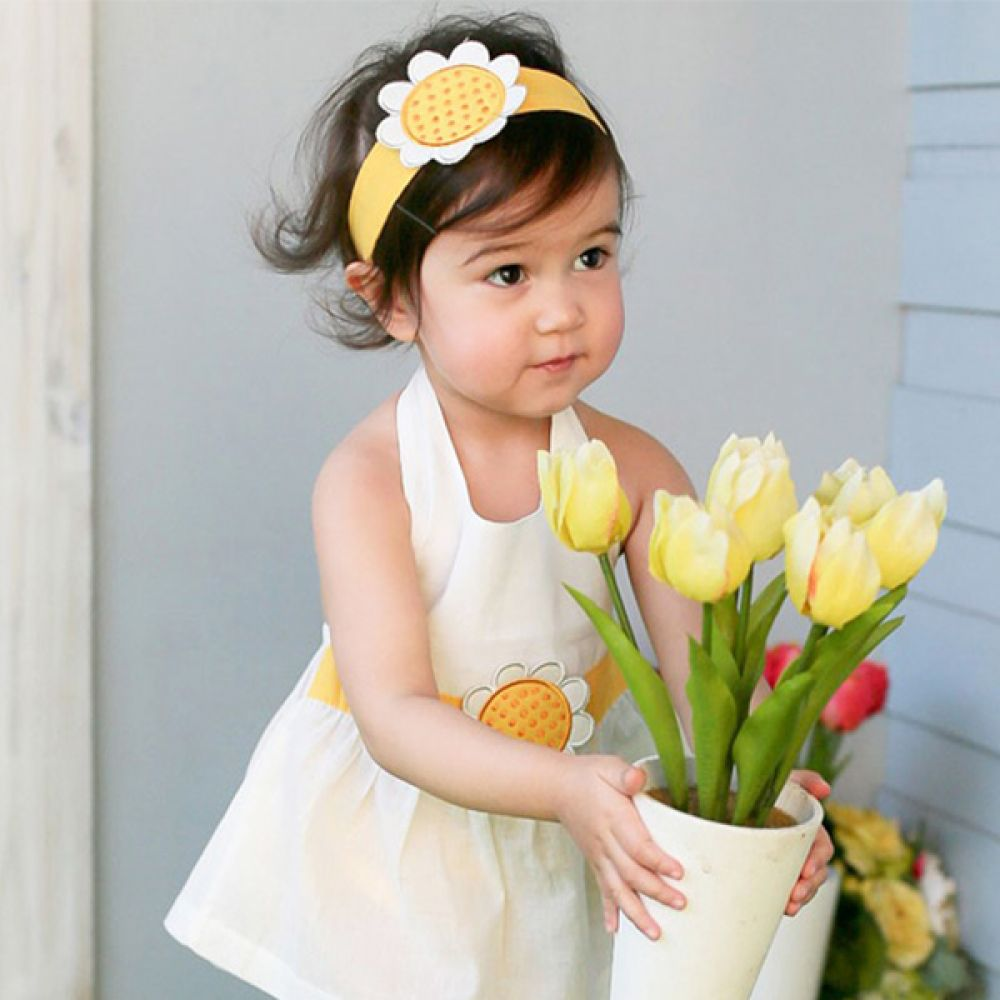 해바라기 원피스 3종세트(6-18개월) 203540 아기원피스 아기옷 유아원피스 아기외출복 신생아원피스 유아옷