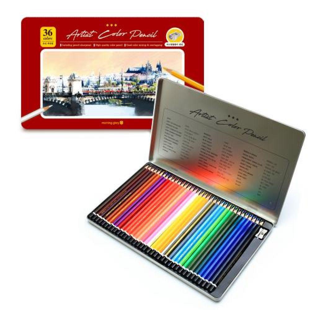 15000 아티스트 유성색연필 36색세트 유성색연필 포리색연필 디자인색연필 색연필36색 색연필36색세트
