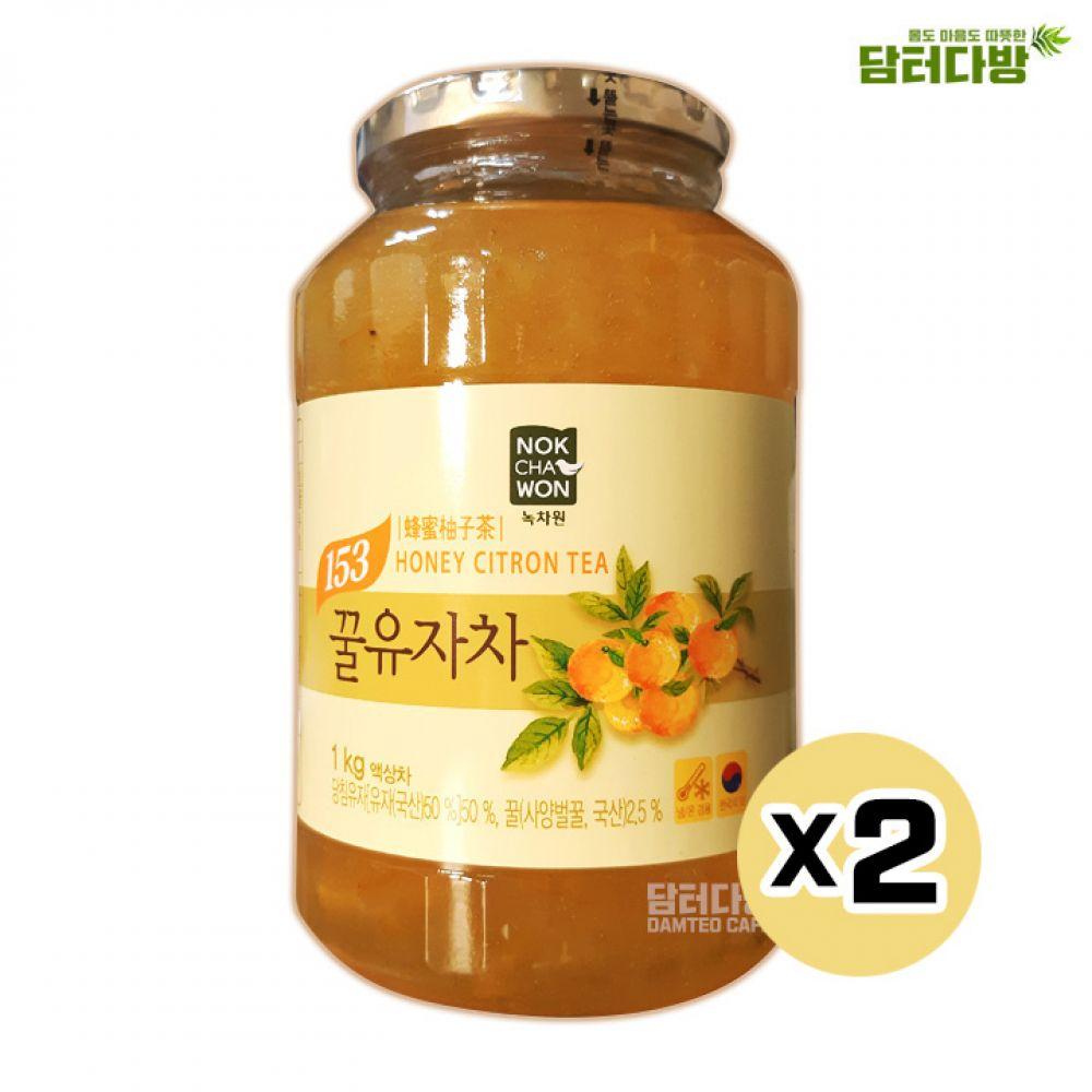 녹차원 꿀유자차 1kgX2 녹차원 유자차 녹차원유자차 유자 맛있는유자차 유자차액상차 유자액상차 유자청1kg 액상차 녹차원액상차