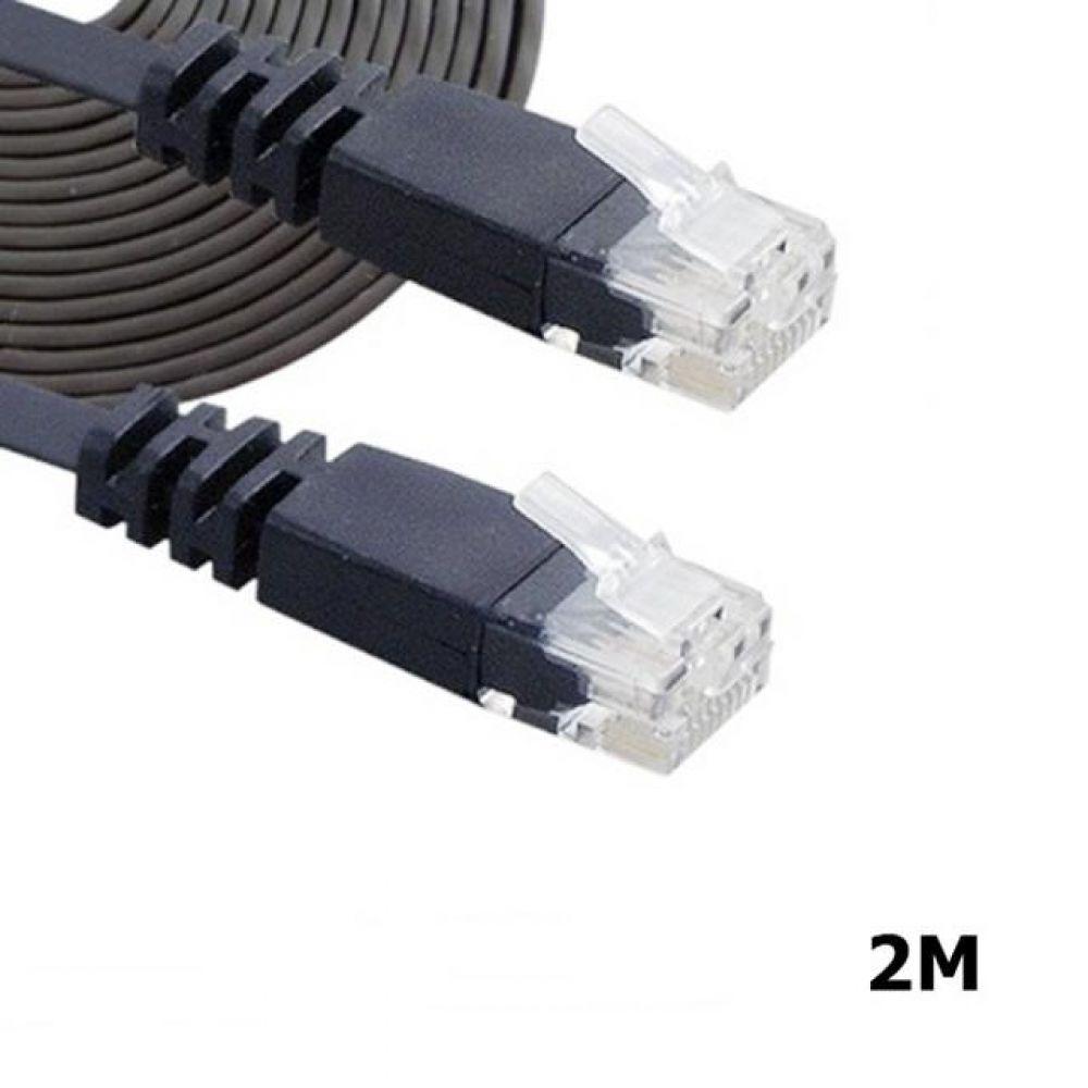 CAT.6 UTP 평면 FLAT 케이블 2M 블랙 컴퓨터용품 PC용품 컴퓨터악세사리 컴퓨터주변용품 네트워크용품 랜선 인터넷케이블 기가랜선 utp케이블 공유기 hdmi케이블 랜커플러 lan케이블 랜커넥터 평면랜케이블