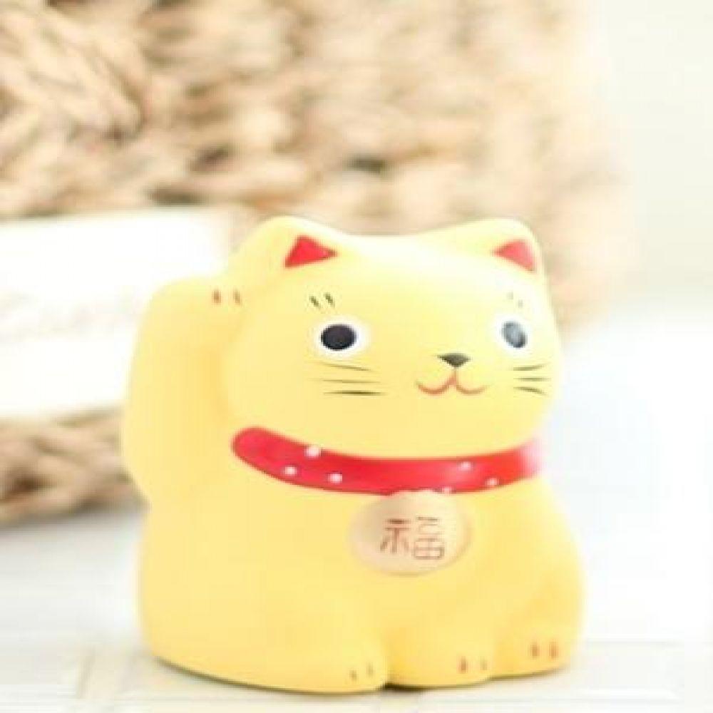 아기 오사카 야옹이 옐로우 2종 도자기소품 고양이소품 고양이장식품 장식인형 장식소품