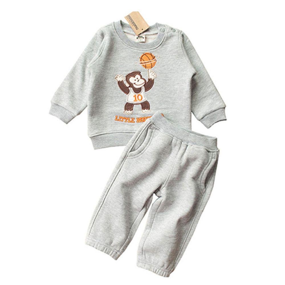 리틀 몽키 유아 상하복 (12개월-4세) 202939 상하복 백일옷 아기옷 유아옷 신생아옷 돌복 세트 상하세트 베이비의류 티셔츠 바지 조이멀티 엠케이