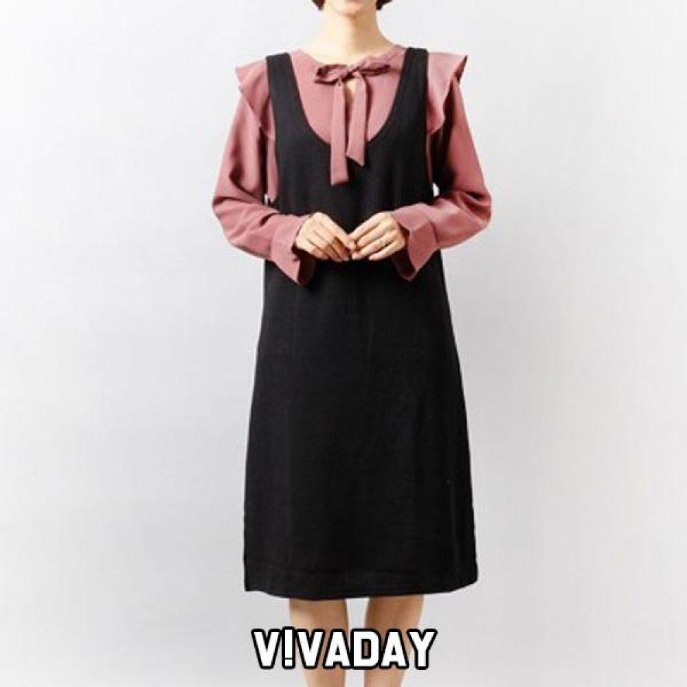DO-RB53 골지조끼원피스 플리츠롱원피스 원피스 여성옷 여자옷 빅사이즈 오버사이즈 롱원피스 여성치마 치마
