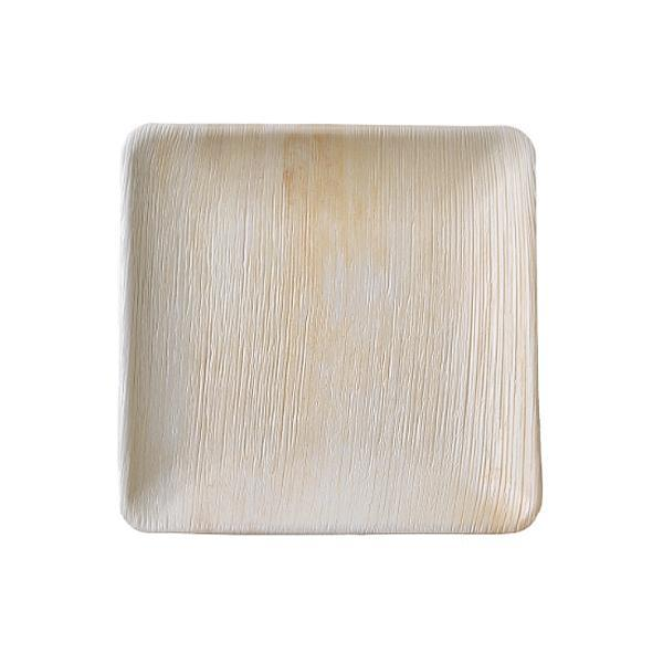 본플라 천연야자나무 25cm 일회용 정사각형 접시 (4) 주방소품 일회용접시 피크닉 포장용기 집들이