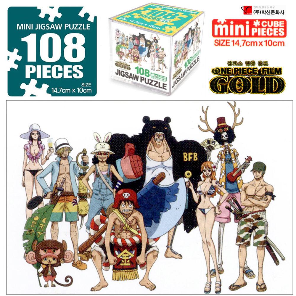원피스골드 직소퍼즐 108pcs 정글크루 퍼즐놀이 퍼즐놀이 아동퍼즐 퍼즐 캐릭터 직소퍼즐