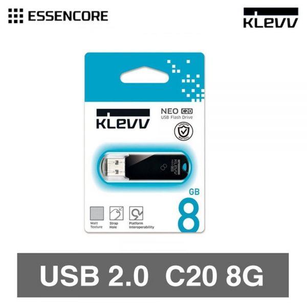 KLEVV USB 2.0 메모리 8GB USB메모리 휴대용 USB 외장 메모리