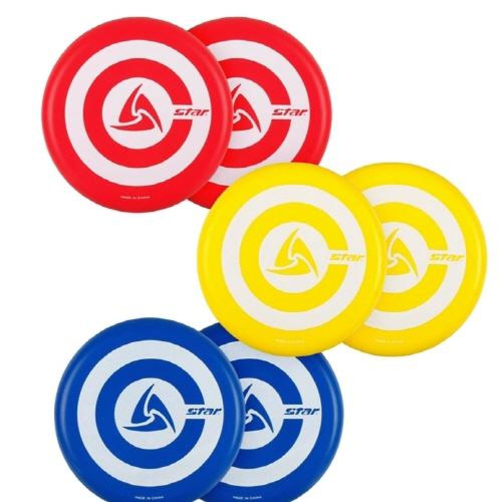 어린이 스포츠놀이 스타 플라잉 디스크 6개세트 스포츠용품 운동용품 실내체육용품 플라잉디스크 체육놀이 어린이스포츠놀이