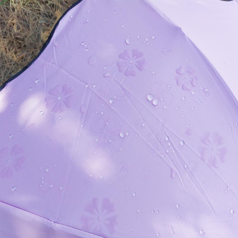 비를 맞으면 벚꽃이 피어나는 3단우산(핑크) 접이식우산 2단우산 사쿠라우산 우양산 양우산 고급우산 단우산 접는우산 우산기념품 우산답례품