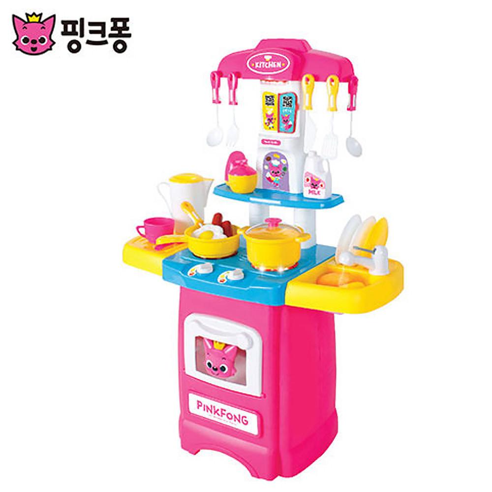 핑크퐁 물이나오는 주방놀이 엄마놀이 소꿉놀이 주방놀이 역할놀이 장난감 소꿉놀이 엄마놀이