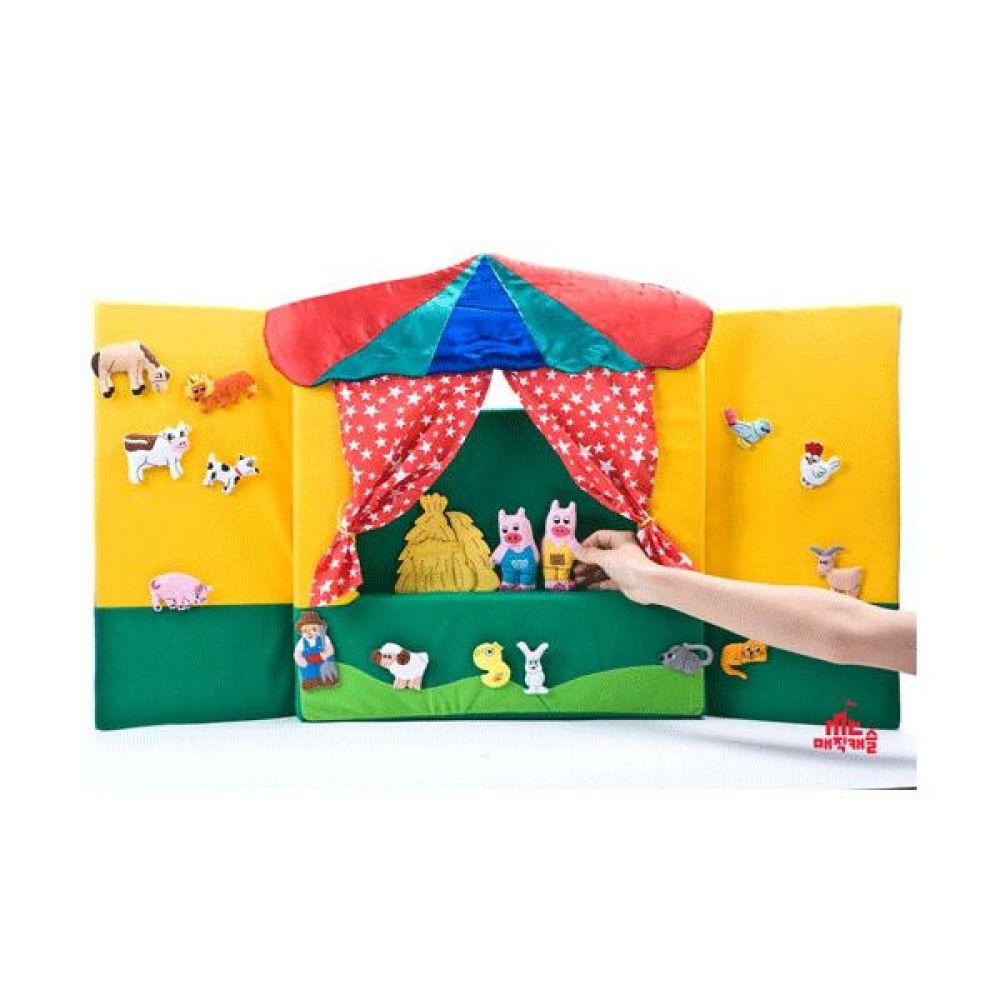 스펀지폼 인형무대 완구 문구 장난감 어린이 캐릭터 학습 교구 교보재 인형 선물