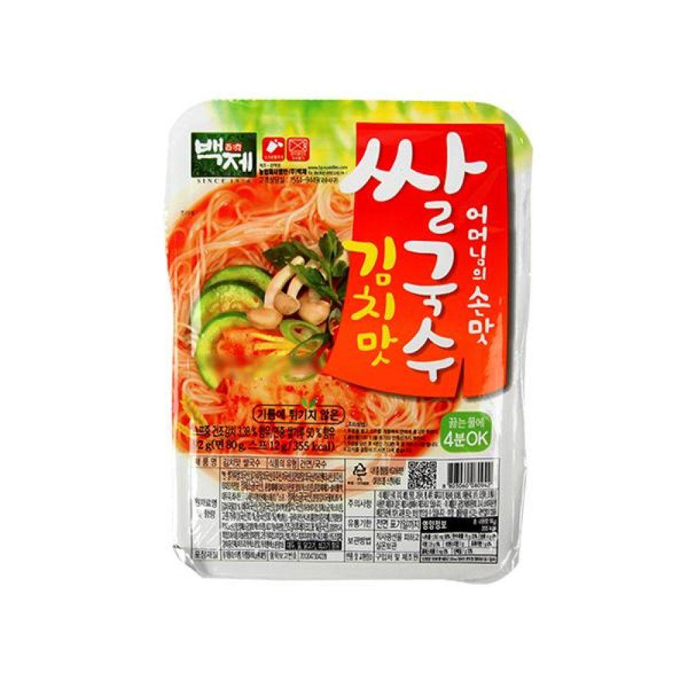 백제)쌀국수 김치맛 용기 92g x 30개 라면 컵라면 사발면 간식 식사