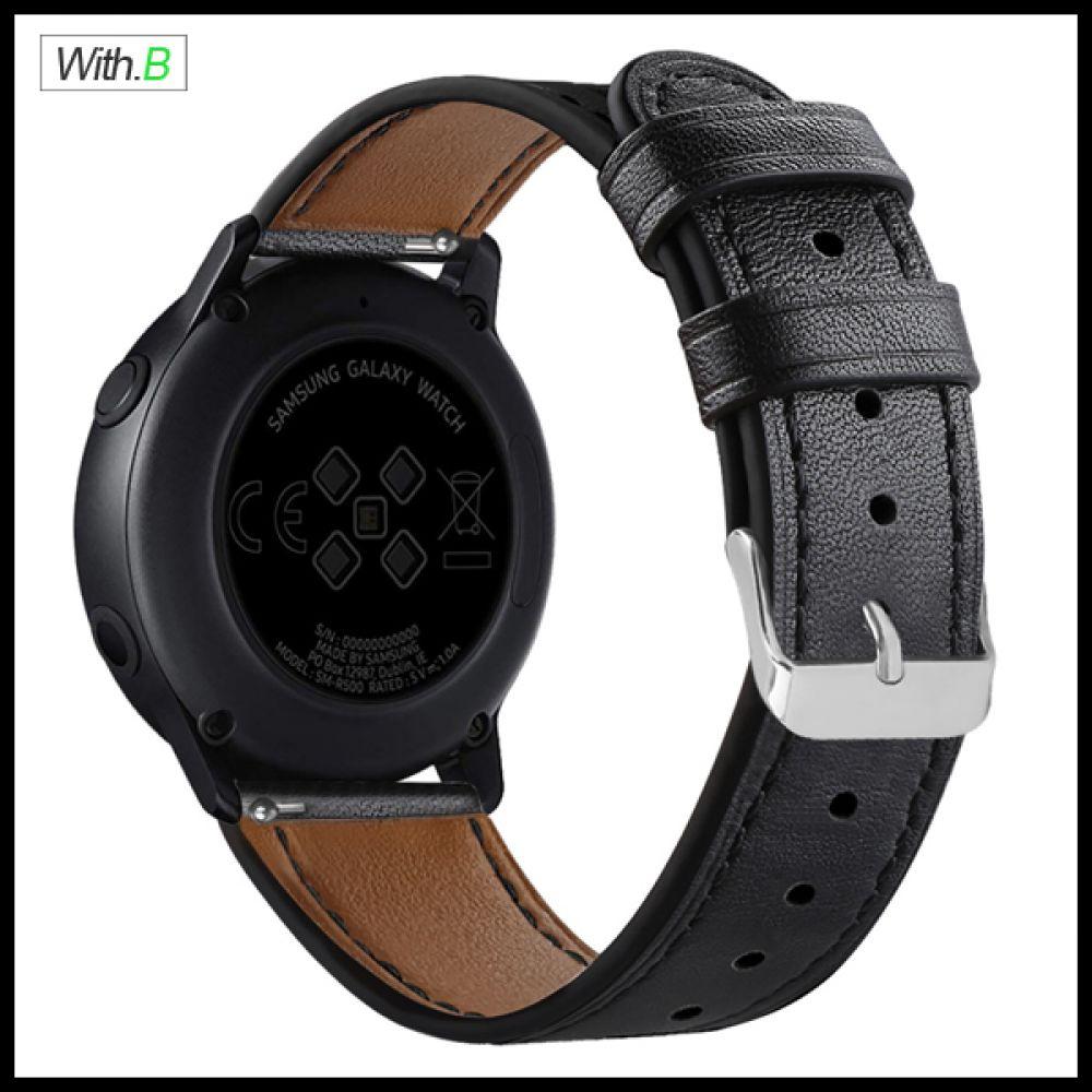 위드비 갤럭시워치액티브2 가죽밴드 20mm시계줄스트랩 갤럭시워치액티브 시계줄 갤럭시워치시계줄 가죽밴드 스트랩