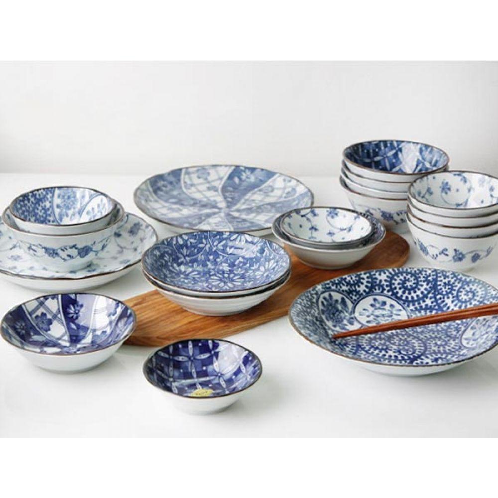 아리타 공기 수국 5P 그릇 예쁜그릇 주방용품 밥그릇 공기 예쁜그릇 그릇 주방용품 밥그릇