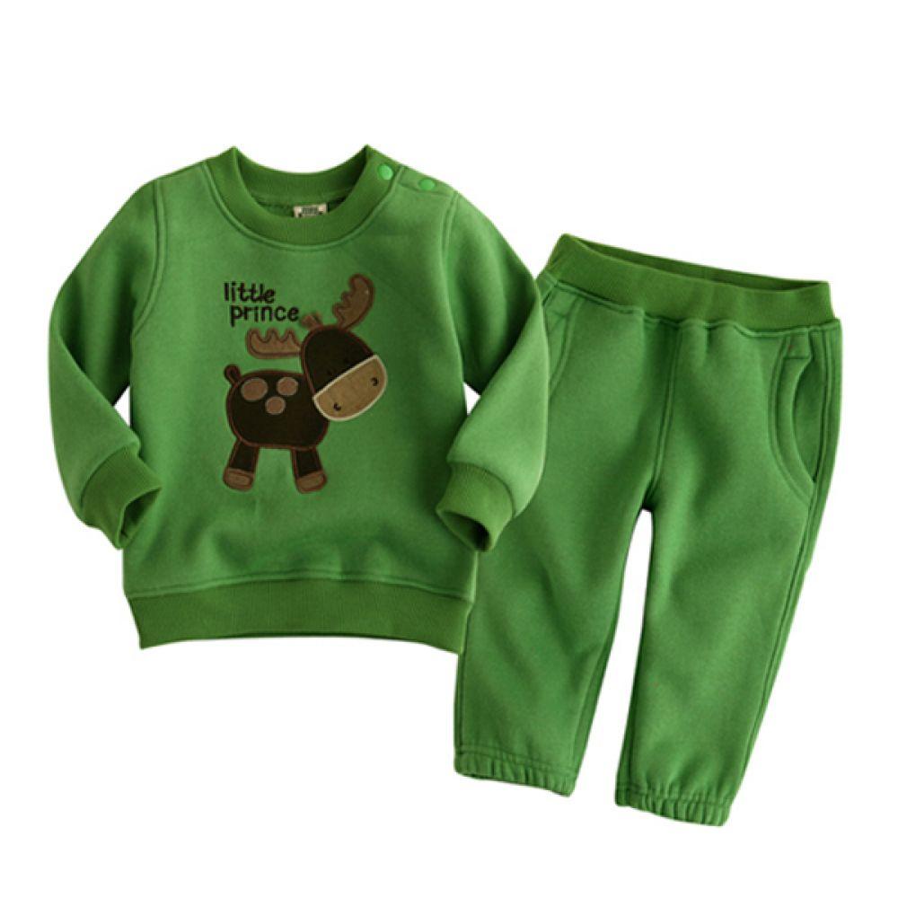 리틀 사슴 유아 상하복(12개월-4세) 202941 상하복 백일옷 아기옷 유아옷 신생아옷 돌복 세트 상하세트 베이비의류