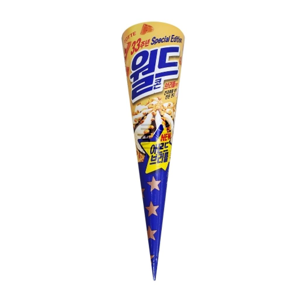 롯데제과 월드콘 아몬드브리틀 1박스 24개입 아이스크림 간식하드 간식용하드 빙과 간식아이스크림