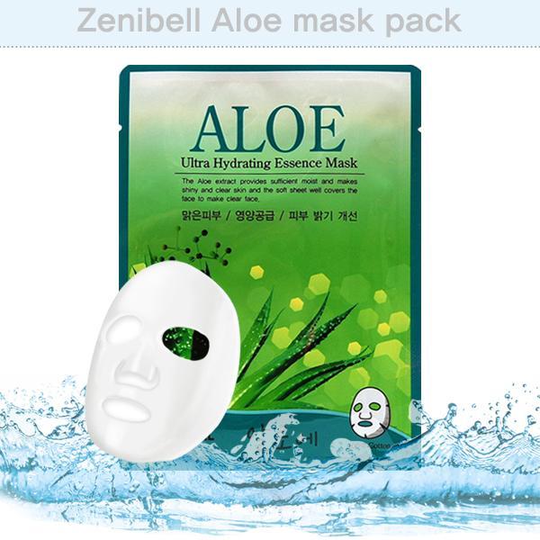 마스크 시트팩 제니벨 알로에 마스크팩 10장 묶음 마스크팩 마스크시트팩 마사지팩 미용팩 화장품
